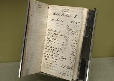 Sutton-Taylor Feud Exhibit – William Sutton's Datebook (c. 1874) Photo: Ansen Seale, Seale Studios