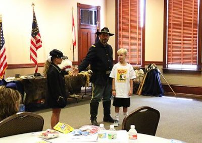 Day 4: Ricky Dolifka, of the Ricky Dolifka of Texas Parks and Wildlife's Buffalo Soldiers Heritage & Outreach Program tells stories about the Buffalo Soldiers, and Native American tribes the Kiowas and Comanches.
