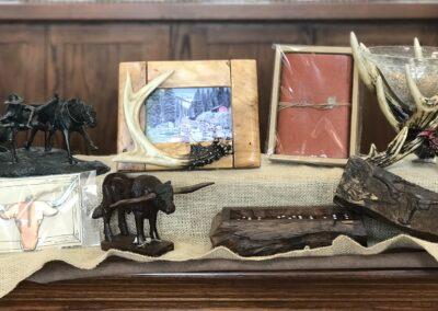 Unique wood bookends