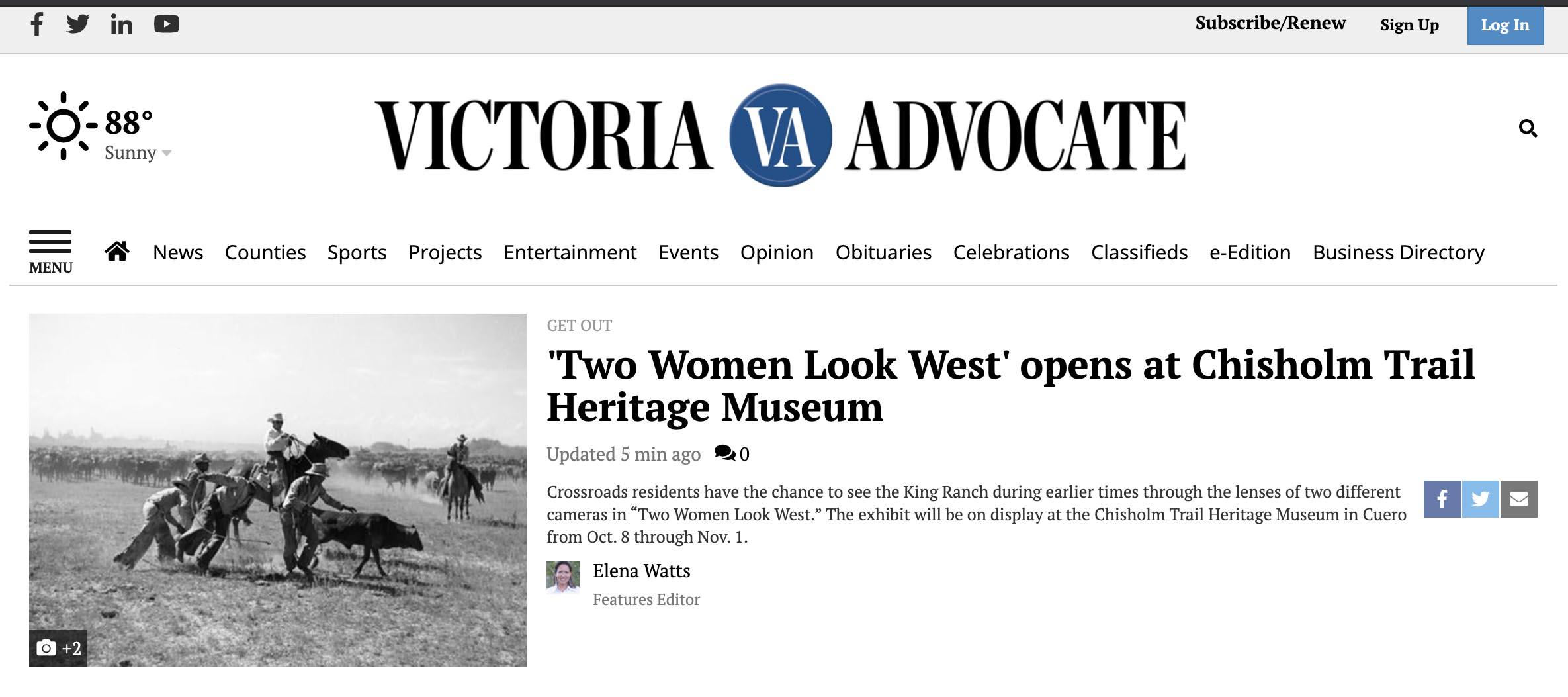 Victoria Advocate spotlight article