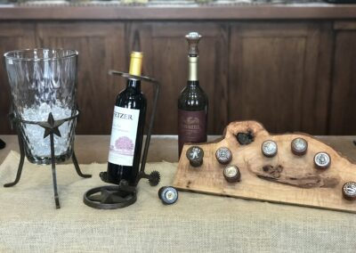 Wine Toppers and Bottle holders