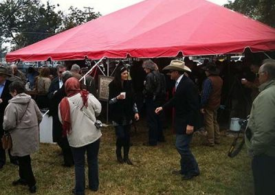 Crowd at GVEC Chuck Wagon Tent
